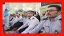 حضور پر شور آتش نشانان شهر باران در نماز پر فضیلت جمعه/ آتش نشانی رشت